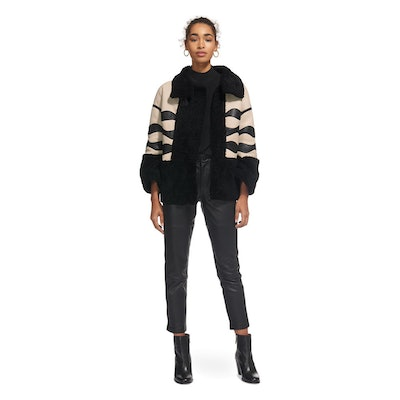 Abi Panelled Shearling Jacket