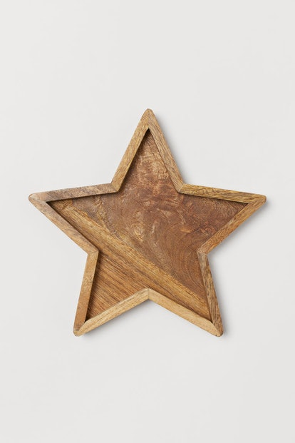 Star-Shaped Wooden Tray