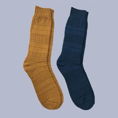 Goodfellow & Co. Men's 2pk Textured Crew Socks
