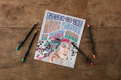 Lennon And McCartney Adult Coloring Kit