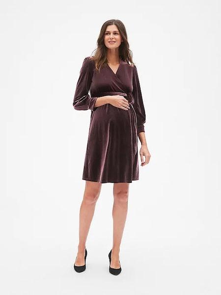 Velvet Tie-Waist Dress