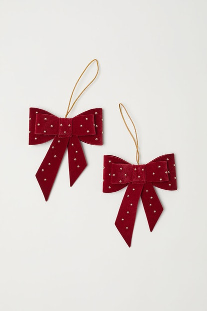2-pack Christmas Ornaments in Dark Red