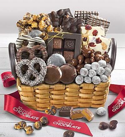 Simply Chocolate Splendid Sweets Basket