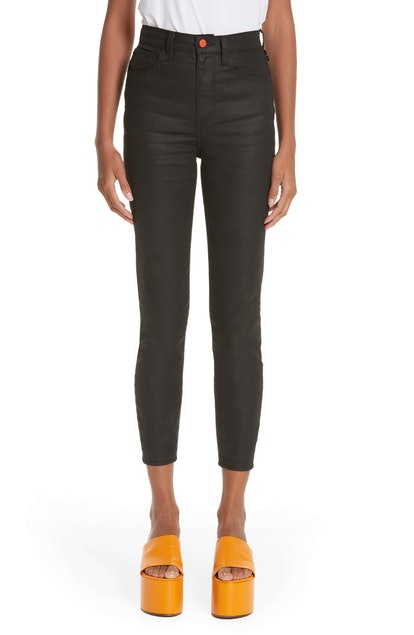 Simon Miller x Paramount Grease Coated Skinny Jeans