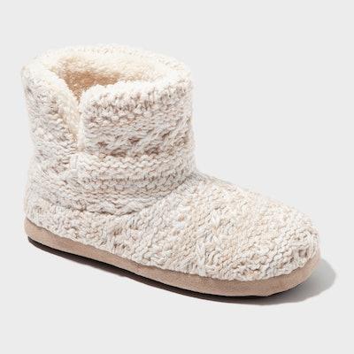 Women's dluxe by Dearfoams Calandra Knit Bootie Slippers