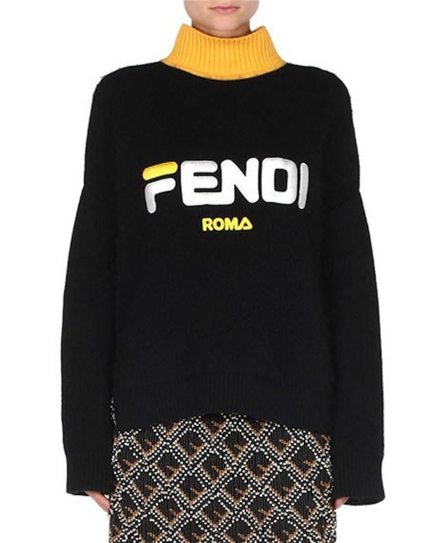 Fendi Mania Turtleneck Pullover Sweater