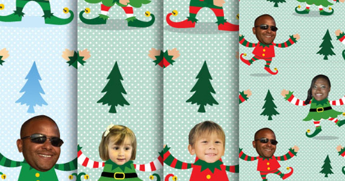This Custom Gift Wrapping Paper With Your Face On It Makes You A Not-So-Secret Santa