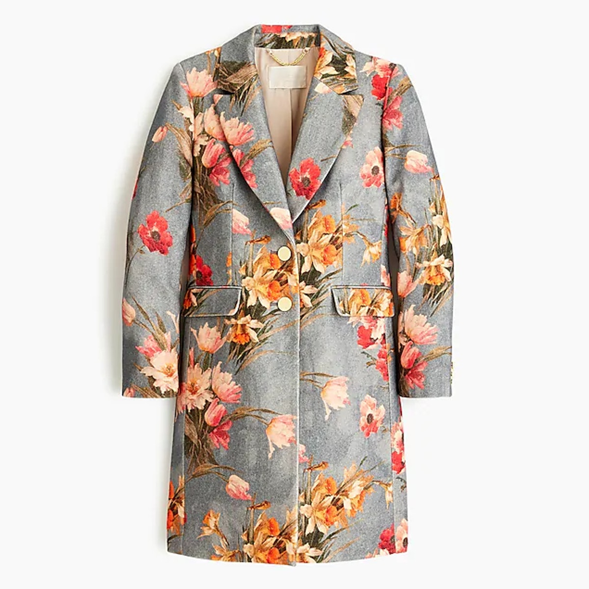 Collection Wool Topcoat In Ratti® Jasper Foral