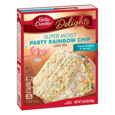 Betty Crocker Super Moist Rainbow Chip Cake Mix, 15.25 oz