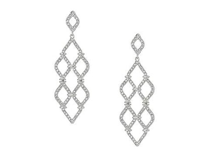 Swarovski Lace Chandelier Pierced Earrings