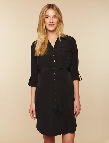 Button Front Maternity Dress