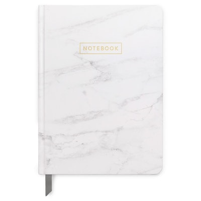 """DesignWorks Ink Lined Journal 5""""x 7.25"""" Marble with Gold Foil"""