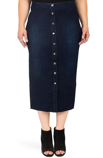 Standards and Practices Elain Denim Pencil Skirt