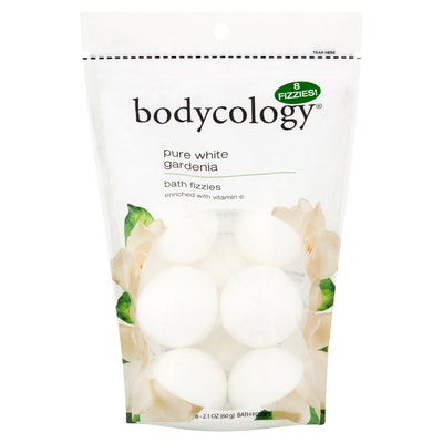 Bodycology Pure White Gardenia Fizzy Bath Bombs with Vitamin E