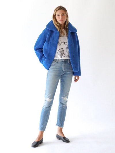 STAND Gilbertine Jacket in Electric Blue