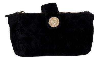 Chanel Black Velvet Coin Pouch