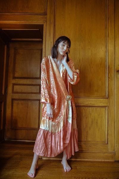 1920s Painted Silk Robe