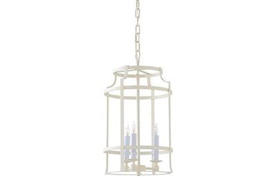 Romney 3-Light Lantern, Matte Cream