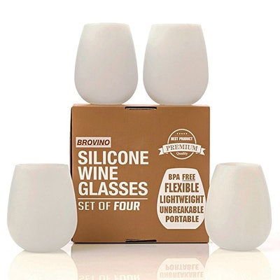 Brovino Silicone Wine Glasses (4-Pack)