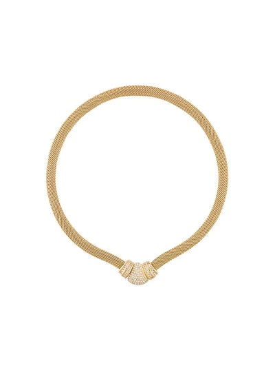 Christian Dior Vintage Christian Dior Mesh Collar Necklace