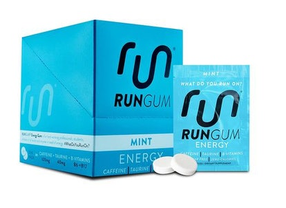 Run Gum Mint Energy Gum