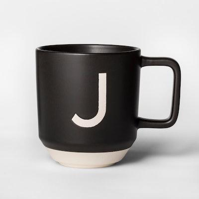 Project 62™ 16oz Monogram Stoneware Mug Black/White