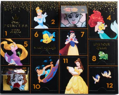 Disney Princesses Women's 12 Days Of Socks Advent Calendar Set