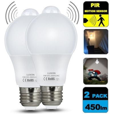 Luxon Motion Sensor Light Bulb (Set of 2)