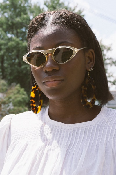 1940s Clear Frame Sunglasses