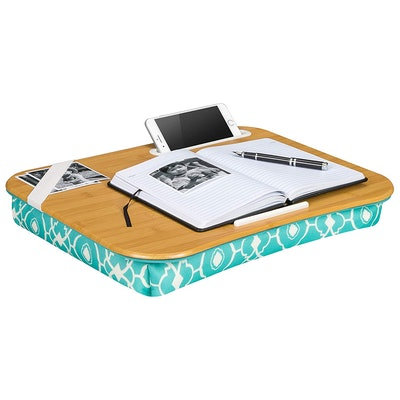 LapGear Designer Lap Desk-Aqua Trellis