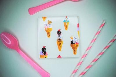 Ice Cream Cones Drink Coaster