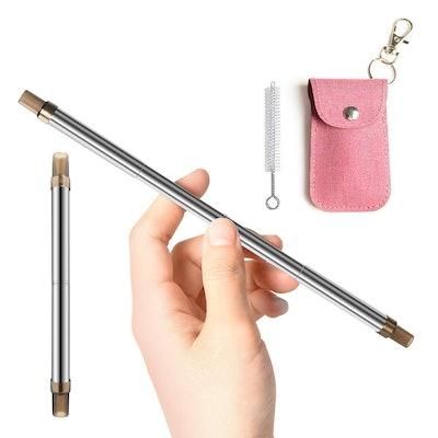 Zonko Retractable Stainless Steel Straws