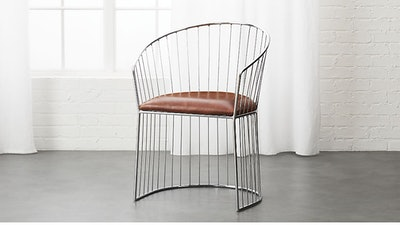 Ray Brown Leather Dining Chair