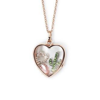 Medium Heart Locket Rose Gold