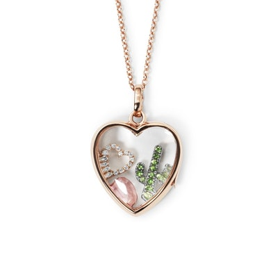 Medium Heart Locket Rose Gold