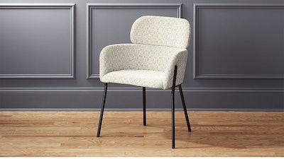 Azalea Ivory Moon Chair in Lindley, Beige