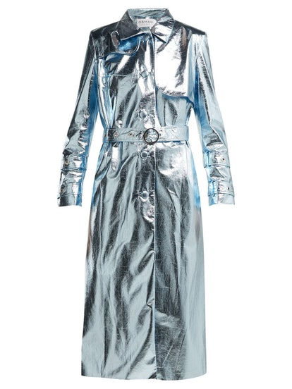 Fralia Metallic Trench Coat