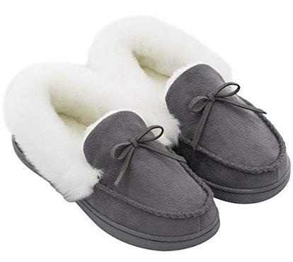 HomeIdeas Faux Fur Suede Slippers