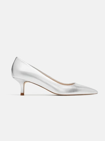 Laminated Leather High Heel Shoes