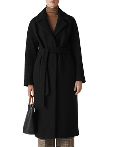 Boiled Wool Wrap Coat