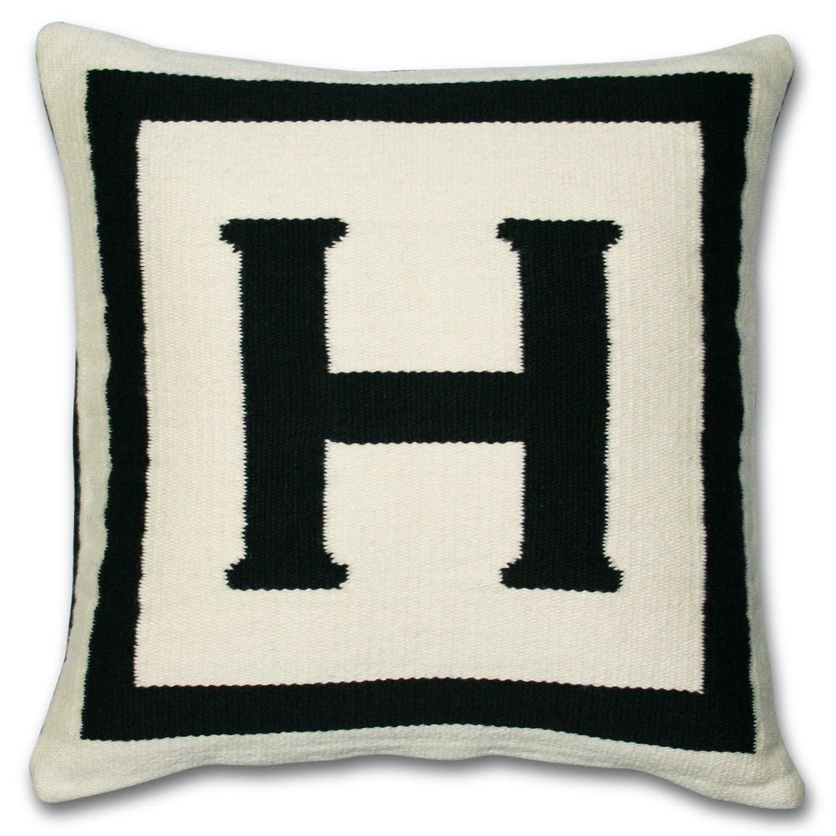 Reversible Letter Throw Pillow