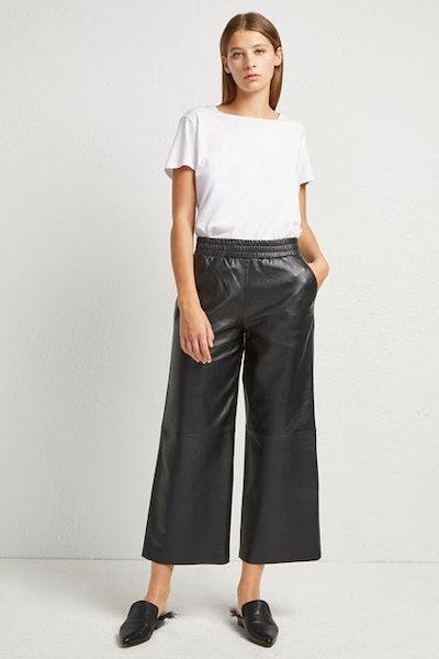 Alia Leather Culottes
