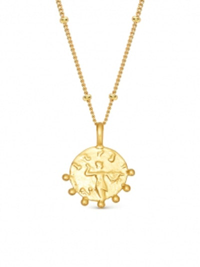 Gold Mini Beaded Coin Necklace