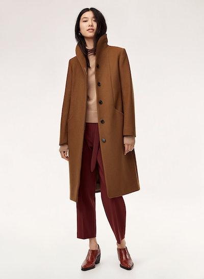 Cocoon Wool Coat Long