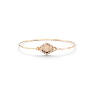 Personalized Diamond Hexagon Bracelet