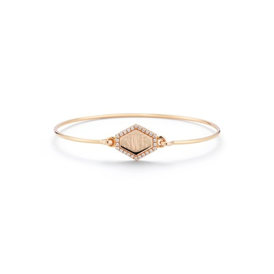 Personalized Diamond Hexagon Bracelet