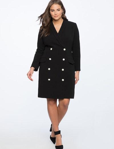 Pearl Button Blazer Dress