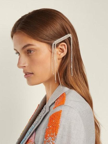 GERMANIER Crystal-Embellished Hair Clip