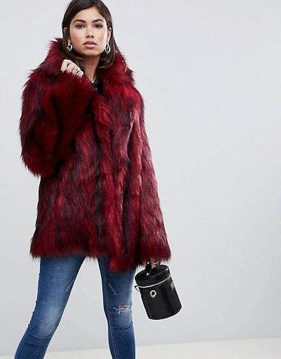 ASOS Design Tipped Faux Fur Coat