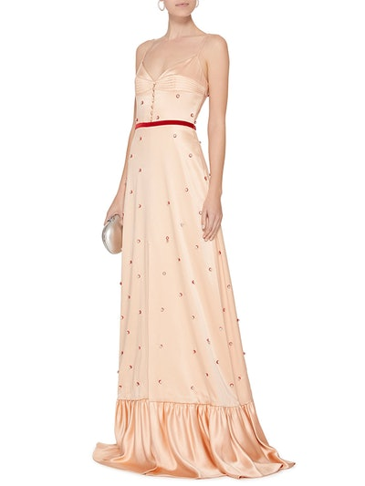 Arabian Song Beaded Silk Gown